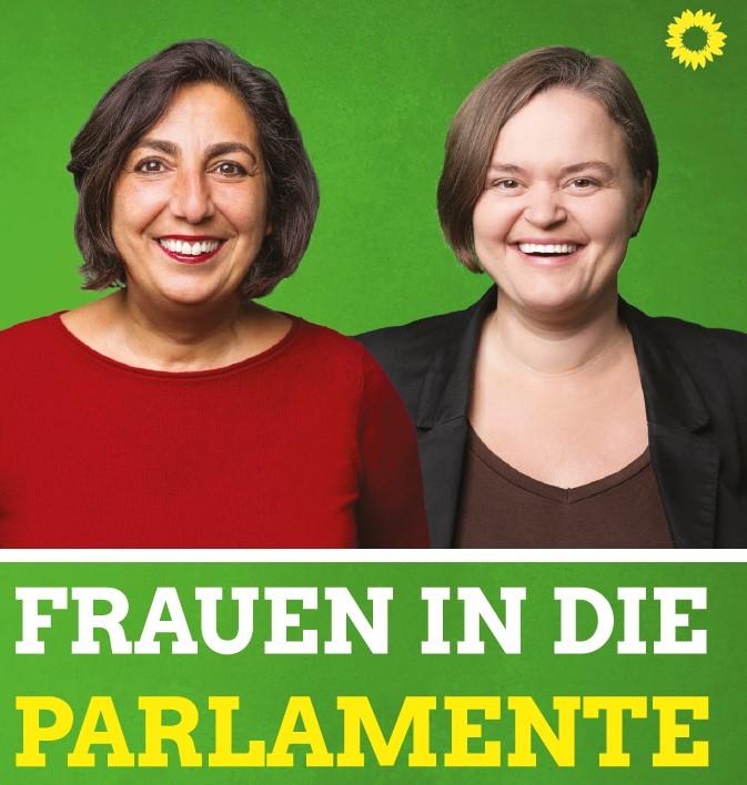 Sanne Kurz Gülseren Demirel Frauen in die Parlamente FIP Parite Landtag Bayern Giesing Bahnhof Grüne