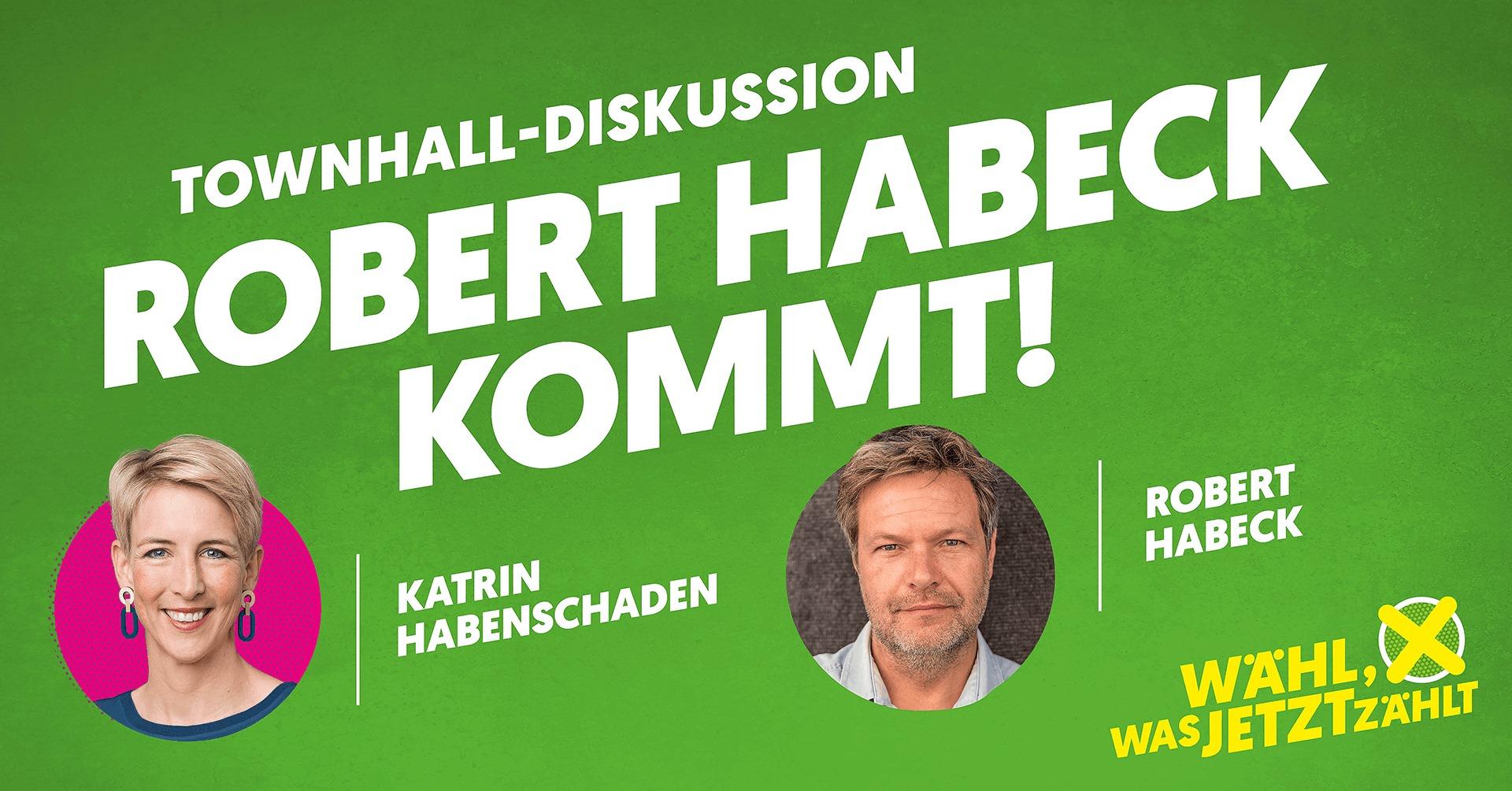 Katrin Habenschaden Robert Habeck München im Gespräch Kennenlernen Kommunalwahl 2020 München