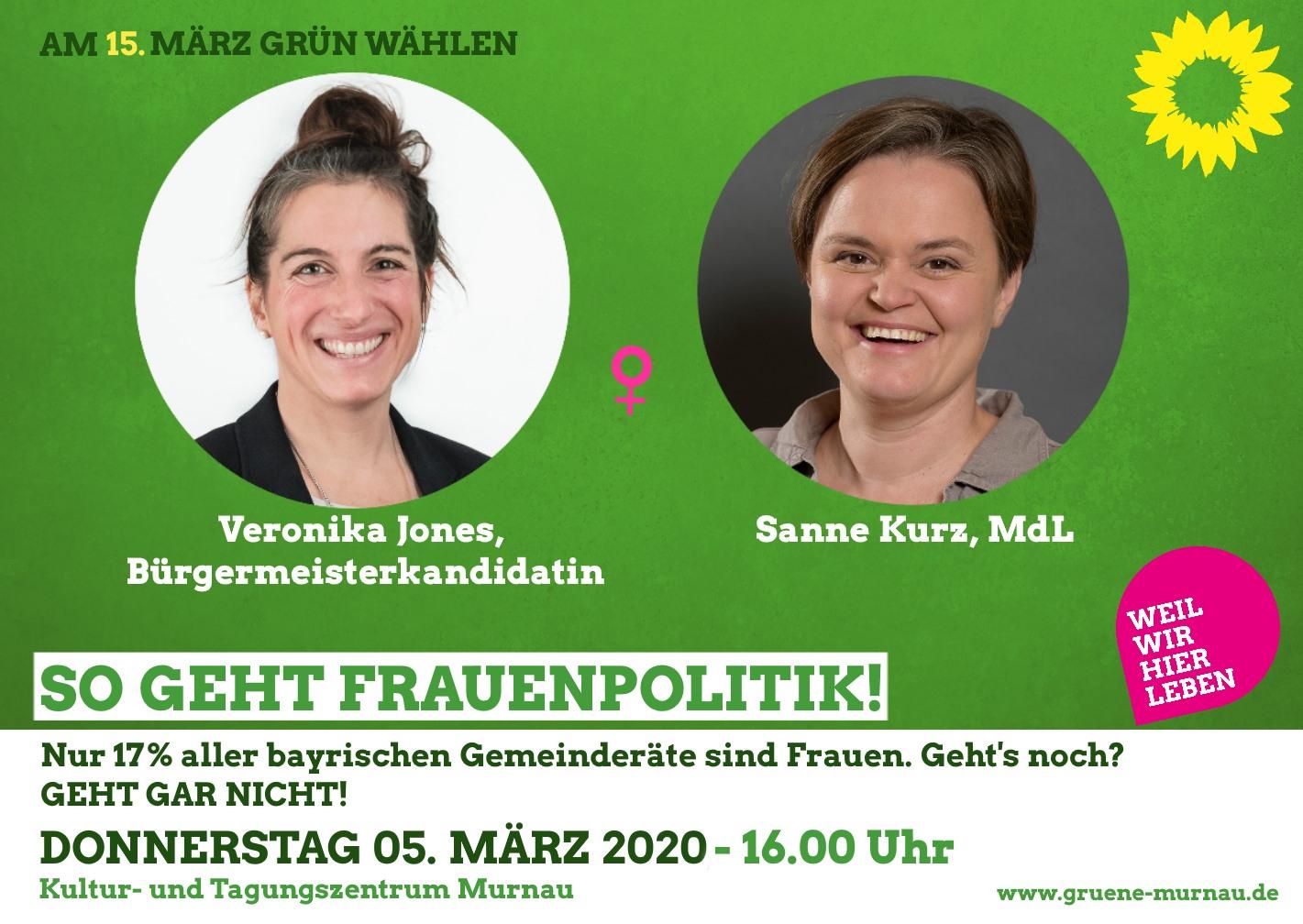 Sanne Kurz Bayerischer Landtag Grüne Fraktion Bayern Frauen in die Kommunalpolitik