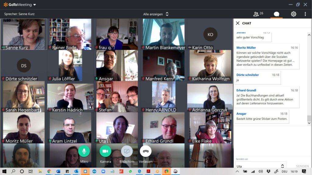 videokonferenz in Zeiten von corona BAG Kultur Grüne Sanne Kurz