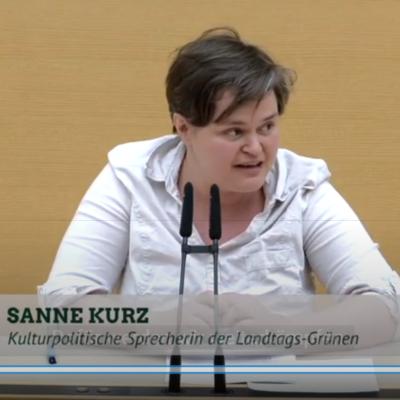 Sanne Kurz Grüne Landtag Bayern Kultur Politik Abgeordnete YouTube