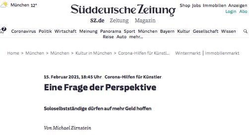 Süddeutsche Zeitung, Eine Frage der Perspektive_Sanne Kurz_210215