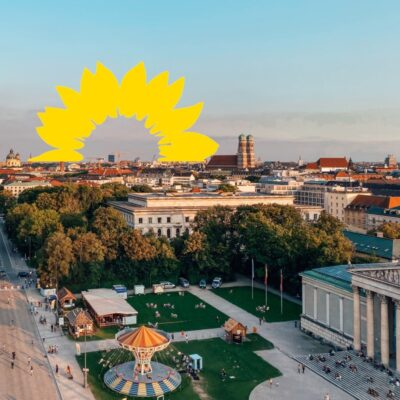 München Grün Grüne Sonnenblume Bundestagswahl 2021 Sanne Kurz