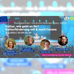 Webinar Kultur Europa Kulturförderung Corona Henrike Hahn Sanne Kurz Bayerischer Landtag
