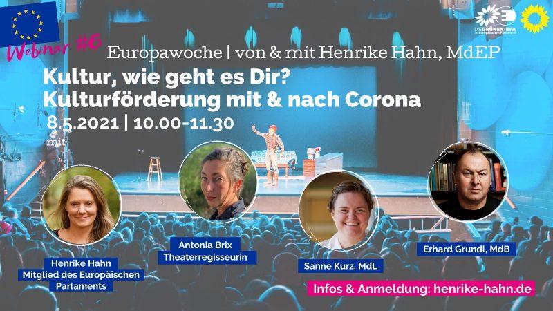 Webinar Europawoche Kultur Corona Sanne Kurz Henrike Hahn