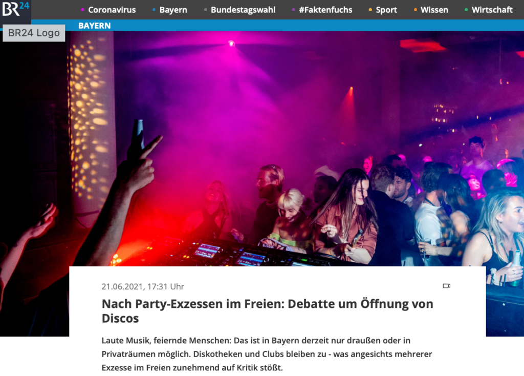 BR24_Nach Party Exzessen im Freien: Debatte um Öffnung von Discos_21.06.2021_Sanne Kurz
