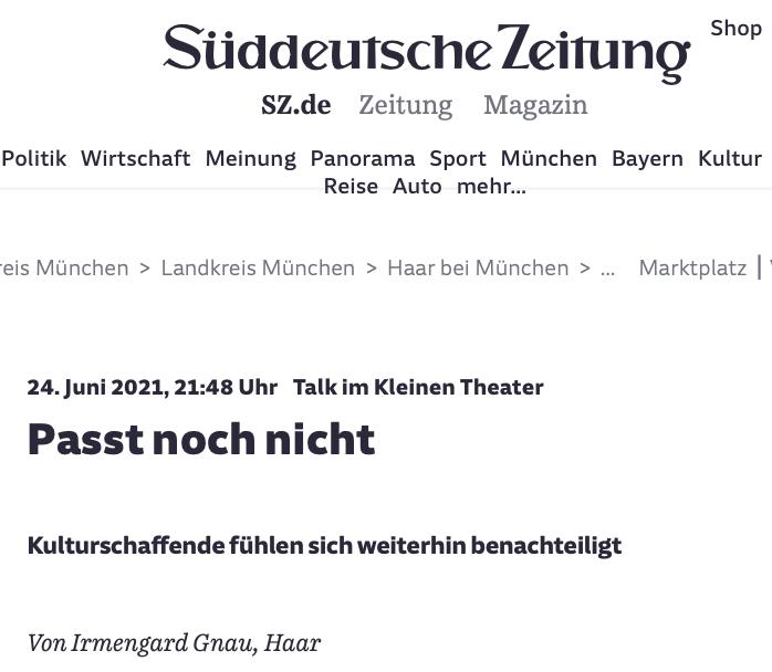 Süddeutsche Zeitung_Passt noch nicht_24.06.2021_Sanne Kurz