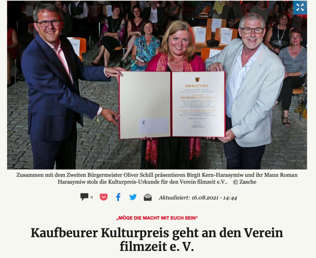 Kreisbote Kaufbeuren_Kaufbeurer Filmpreis geht an den Verein Filmzeit e.V._16.08.2021_Sanne Kurz