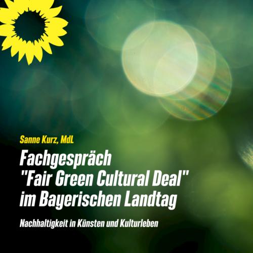 Fair Green Cultural Deal Grün Fair Kultur